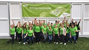 KIT-Career Service Team vor dem Messezelt